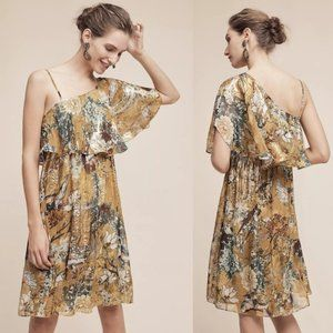 Hemant + Nandita Blooming Ruffled-Sleeve Dress S